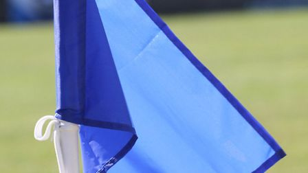 Football corner flag. Ref exsp 7253-33-15SH. Picture: Simon Horn
