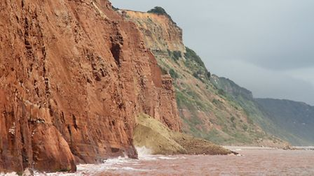 Recent cliff falls towards Salcombe mouth this week. Ref shs 30-16SH 3300. Picture: Simon Horn.
