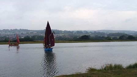 Lugger Racing on the River Axe