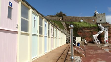 The beach huts at Jacob's Ladder that were severely damaged during the winter storms are now complet