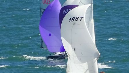 There were great conditions for sailing races at Sidmouth on Saturday. Ref shsp 30-16SH 2158. Pictur