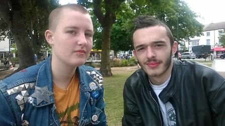 Ray Fry, left and his boyfriend, Luke Walker, right