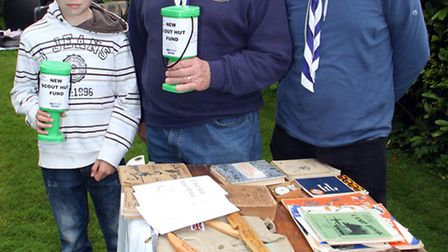 Scouts leaders Gareth Hughes and Brian Manwaring at one of the many fundraisers over the years. Pict