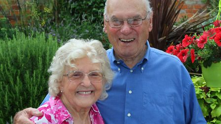 Sidmouth couple Tom and Madeleine King celebrated their 70th wedding anniversary this week. Ref shs