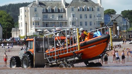 Sidmouth Lifeboat. Ref shs 32-16SH 7617. Picture: Simon Horn.