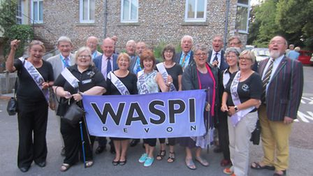 WASPI campaigners and EDDC councillors calling for Government to rethink changes to the state pensio