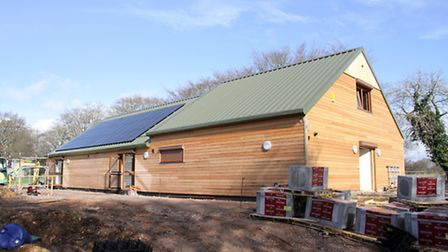 Sidmouth Scout Centre in March, before its completion. Ref shs 13-16TI 8122. Picture: Terry Ife