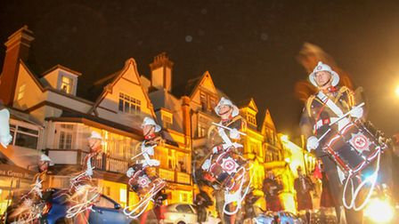 Ghostly figures on the esplanade during the carnival. Ref shs 39-16TI 8665. Picture: Terry Ife