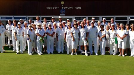 Sidmouth bowlers before the final action of the 2016 outdoor season