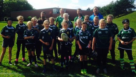 The Sidmouth Under-13 girls' team