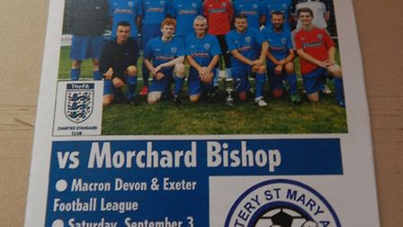 The Ottery St Mary match day programme front cover