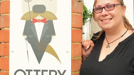 Laura Allard, owner of Ottery Gents, outside new barber shop