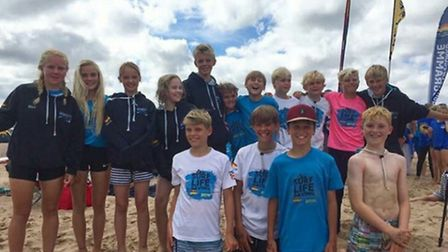 Sidmouth Surf Lifesaving Club at the British championships at Exmouth - the Nipper team