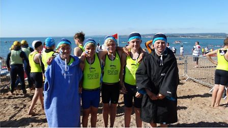 Sidmouth Surf Lifesaving Club at the British championships at Exmouth - the 12 years boys team