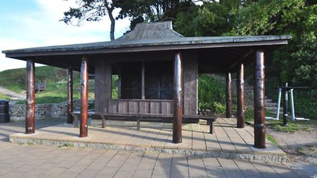 The new shelter in Beer's Millenium Grounds.