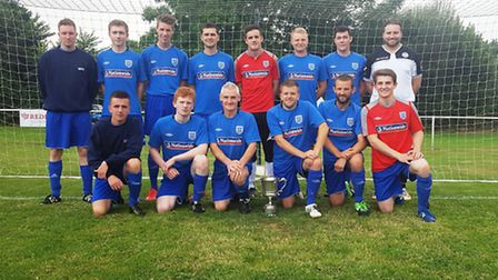 The Ottery St Mary football team that started the new Macron League season with a 1-1 draw with Prio