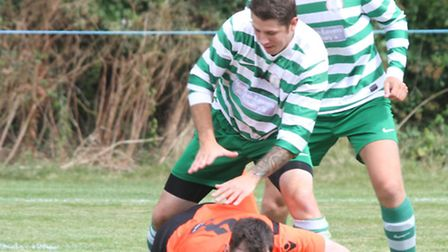 Sidmouth Town played Alphington at the weekend. Ref shsp 34-16AW 3958. Picture: Alex Walton.