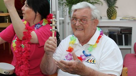 Residents at Sidmouth Malden House were treated to a special family funday. Ref shs 34-16AW 3912. Pi