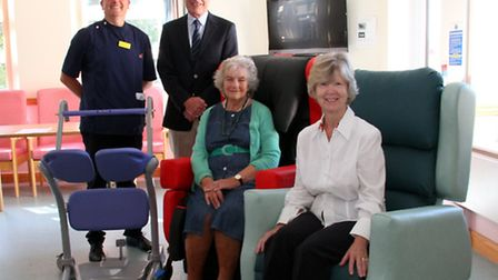 Sidmouth Victoria Hospital matron, David Williams with Graham Vincent, Sheelagh Michelmore and Franc