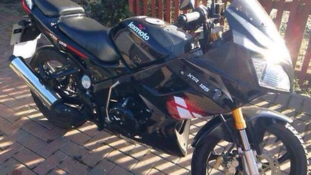 Can you help find this bike? The Lexmoto XTR125 motocycle was taken between 10.30pm last night (Thur
