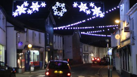 Ottery St Mary Christmas lights. Ref sho 4905-02-15AW. Picture: Alex Walton