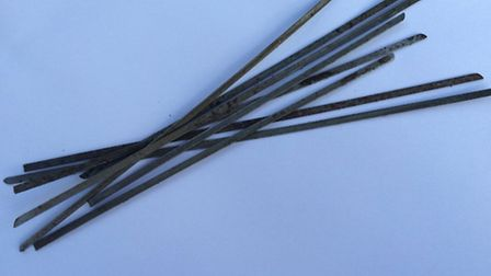 The metal rods found on Sidmouth roads and paths.