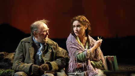Dermot Crowley and Judith Roddy in Brian Friel's Translations. Photo: Catherine Ashmore