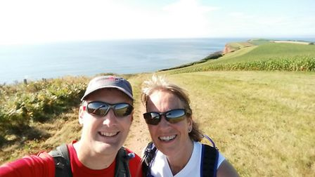 Tracey Paddon (pictured with husband Guy) is tackling Atlantic Coast Challenge in memory of her dad