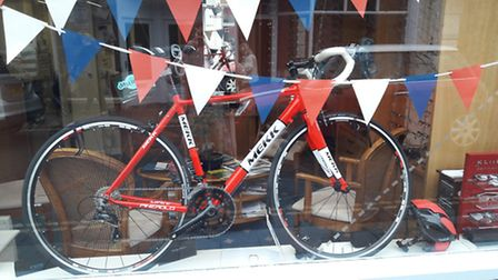 McShaw Optomotrists has also put up displays in honour of the Tour of Britain.