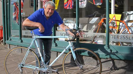 Nick Cole with his Viking Severn bike. Ref shs 36-16TI 7277. Picture: Terry Ife