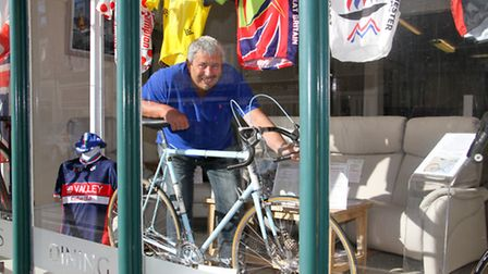 Nick Cole with his Viking Severn bike. Ref shs 36-16TI 7266. Picture: Terry Ife