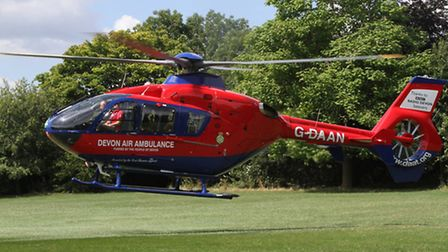 The Devon Air Ambulance takes off. Picture: Simon Horn