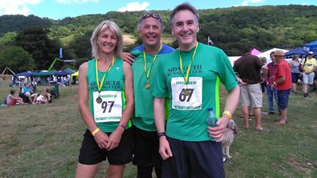 Sidmouth runners at the Lustleigh 10k