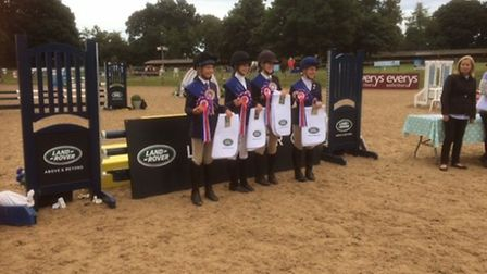 Sidmouth Pony Club action from the Poncy Club Regional Finals