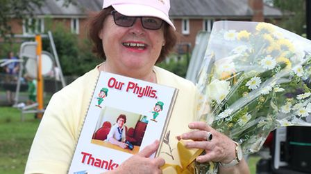 A special presentation thanking Phillis Baxter for all she has done for the town was made at the Tou