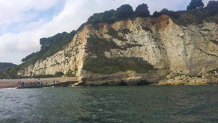 The view from Sidmouth Lifeboat of the callout to Beer on Wednesday