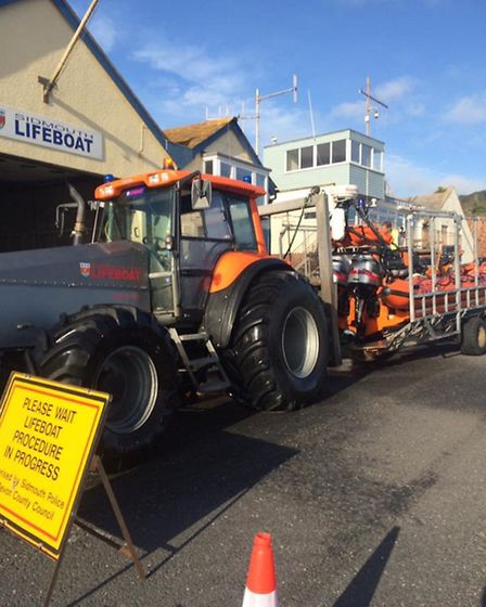 Sidmouth Lifeboat was called to Beer on Wednesday