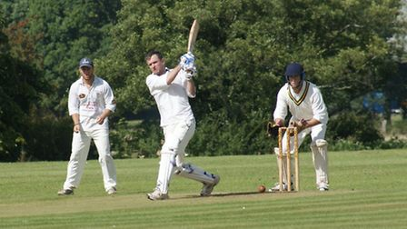 Tipton batsman Dave Alford looks to have had a lucky escape!