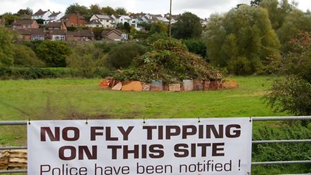 Fly Tipping at Millenium Green. Ref sho 42-16TI 0233. Picture: Terry Ife