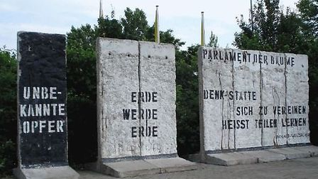 Four sections of the original Berlin Wall.