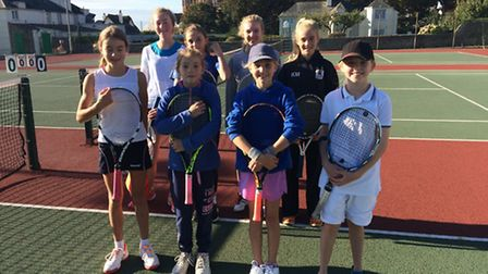 The girls who played in the LTA Outdoor Matchplay Ratings tournament hosted by Sidmouth Tennis Club