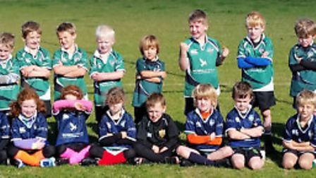 Sidmouth Under-7s squad