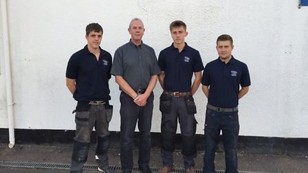 Fords have welcomed three new apprentices, (from left to right) Bobby Crofts with operations manager