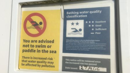 Mr King thinks signs displaying water quality should be bigger for visitors to see.