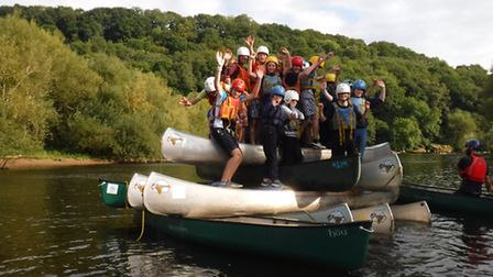 Ottery Scouts and Explorers beat the back to school blues with an activity weekend, including canoei