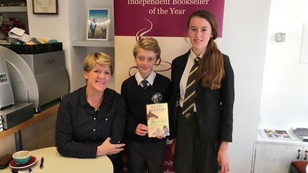 Clare Balding signed copies of her new book in Winstone's, Sidmouth