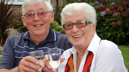 Golden wedding couple Eddie and Sue Baker. Ref shs 40-16TI 9175. Picture: Terry Ife