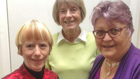 (l - r) Anna Sutherland, Linda Williams and Janet Dowling.