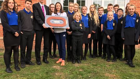 Pupils from The King's School's sports council met Jo Pavey.