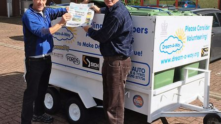 Gareth Hughes from the 1st Sid Vale Scouts, which received Dream-A-Way's donated trailer from Mike R
